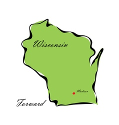 State of Wisconsin vector image vector image