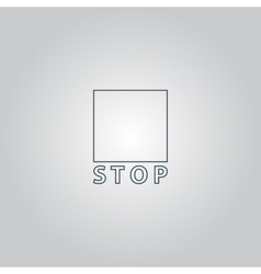 Stop button icon Flat design style vector image vector image