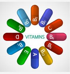 vitamins icon vector image