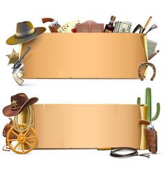 Cowboy Scrolls vector image