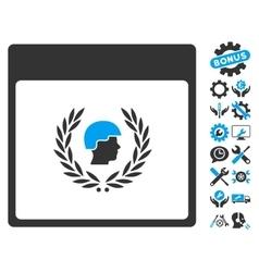 Soldier laurel wreath calendar page icon vector