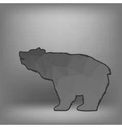 Bear polygonal silhouette vector