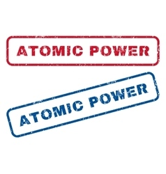 Atomic power rubber stamps vector