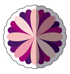 some color flower with petals icon vector image