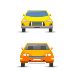 flat yellow car vehicle type design style vector image