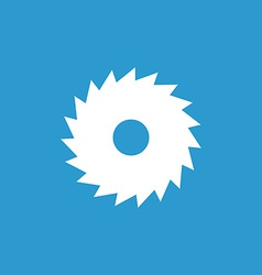 Industrial saw icon white on the blue background vector