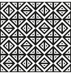 Geometric abstract monochrome pattern seamless vector
