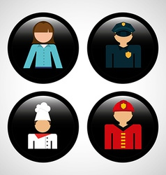 jobs icons vector image