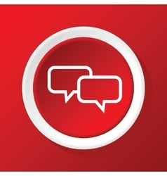 Chat icon on red vector