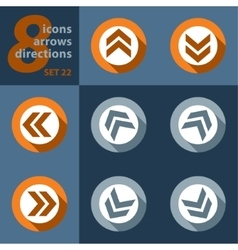 Set of eight icons with arrows vector