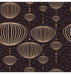Seamless lantern pattern vector