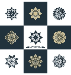 Design luxury template set swash elements art vint vector