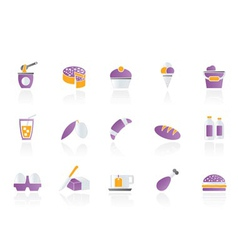 Dairy products - food and drink icons vector