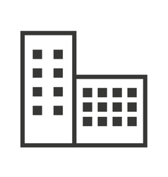 Building silhouette isolated icon design vector
