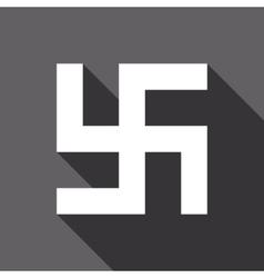 Flat swastika icon vector