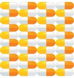 Seamless pattern with medical pills vector