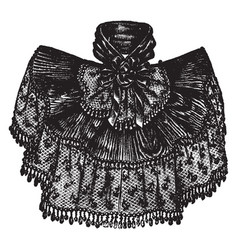 A decorative fabric that is worn around the neck vector