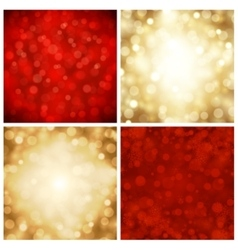 abstract bokeh christmas lights vector image