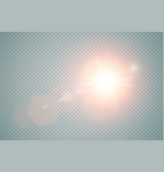 Abstract red front sun lens flare translucent vector