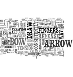 Archery tips text word cloud concept vector