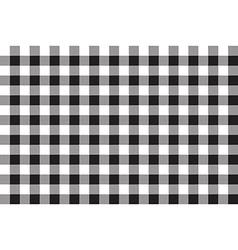 Black white checkerboard check seamless background vector