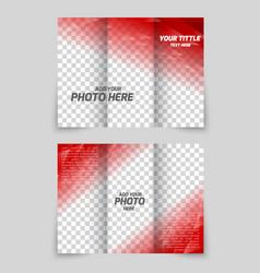 Brochure red template vector