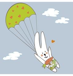 Bunny parachutist vector