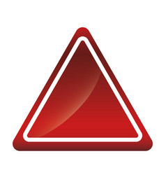 Caution sign icon vector