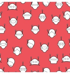 Chat bot seamless pattern vector
