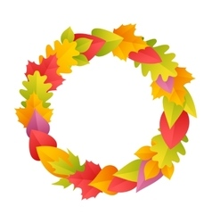 Colorful autumn wreath vector