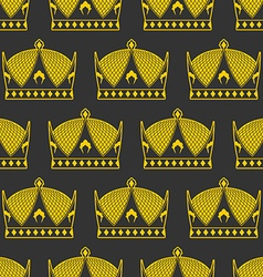 Crown seamless pattern emperor Royal texture vector image vector image
