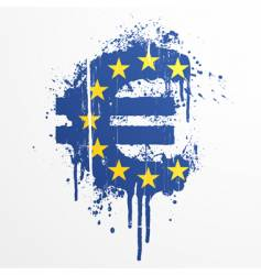 european union euro splatter element vector image