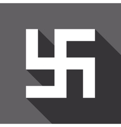 Flat swastika icon vector
