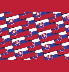 Grunge slovakia flag or banner vector
