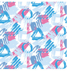 Hand painted stylish seamless pattern vector