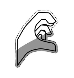 Hand sign symbol vector