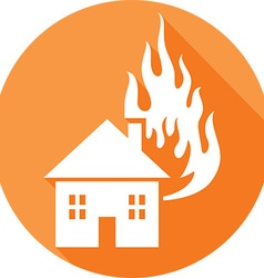 House on fire icon vector
