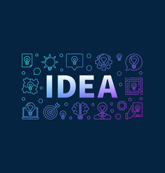 Idea creative colorful design vector