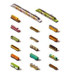 Isometric trains vector