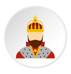 King icon circle vector