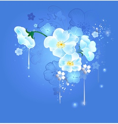 magic white flowers vector image vector image