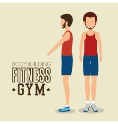 Man pose different bodybuilding fitness gym icon vector