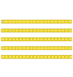 measuring tape for tool roulette vector image