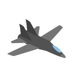 Military aircraft icon isometric 3d style vector