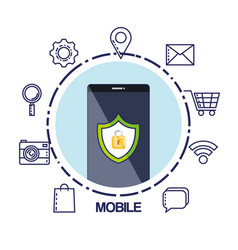 Mobile phone security system information vector