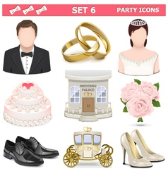 Party Icons Set 6 vector image vector image