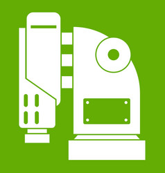 pneumatic hammer machine icon green vector image vector image