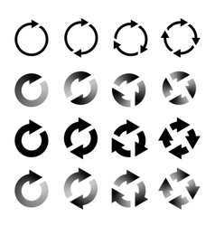 Rotating Arrows Set Refresh Reload Recycle vector image vector image