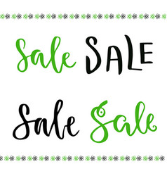 Sale hand lettering set for online shop decoration vector