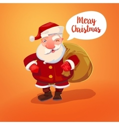 Santa claus with sack vector